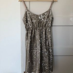 LNWT silver cocktail dress